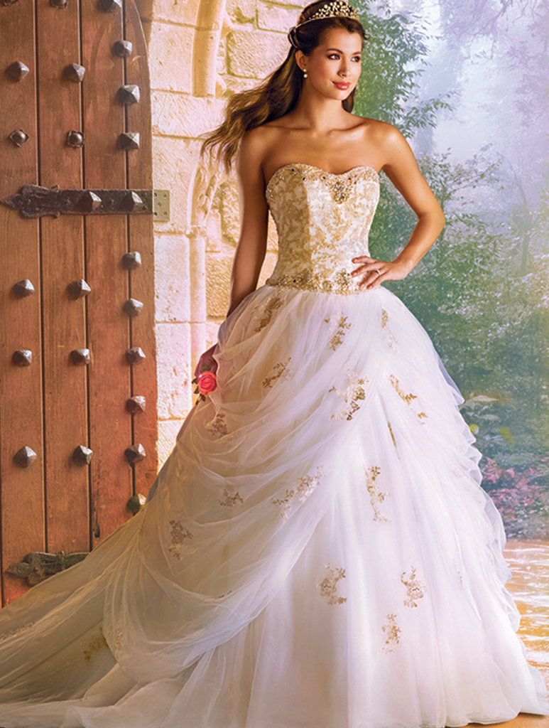alfred angelo disney belle gown