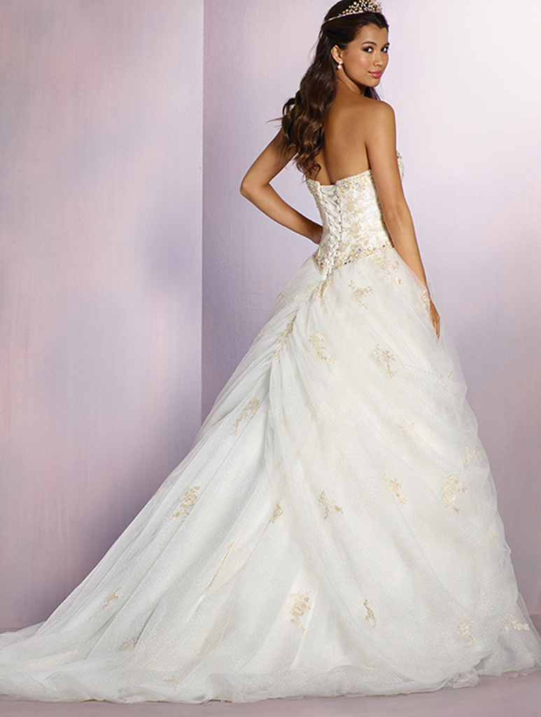 Alfred angelo disney belle gown for Disney style wedding dresses