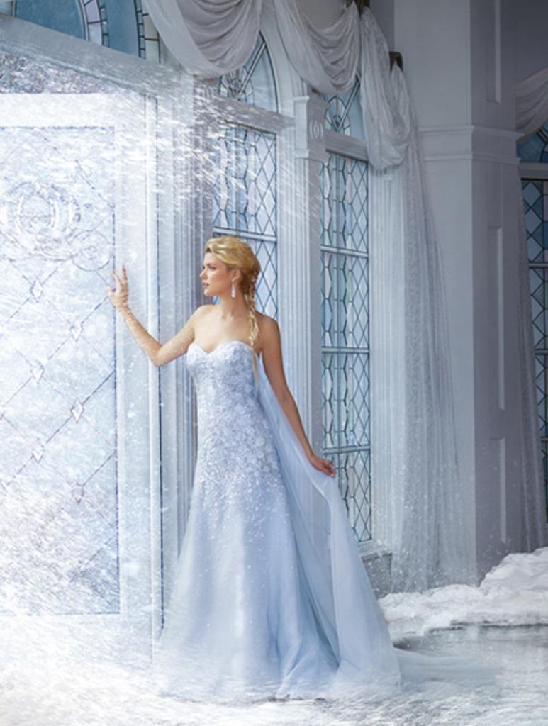 Disney Bridal Elsa 251 wedding dress from the Disney film Frozen ...